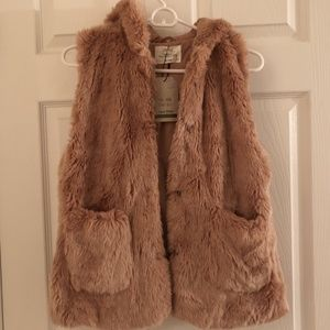 Zara Girls Faux Fur Vest